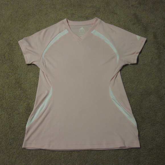 Adidas Sport Baby Tee Poshmark Fitted Light Tops Shirt Pink Top WBTrBZR